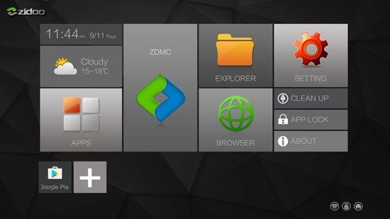 домашний экран смарт приставки