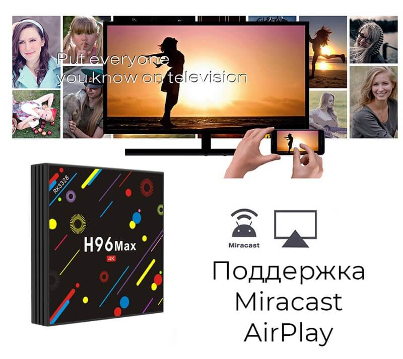 H96 Max H2 miracast airplay
