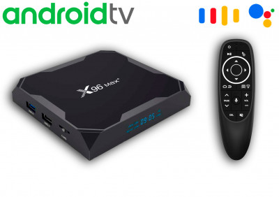 X96 Max Plus2 4/64 Gb Android TV 9 + Air mouse