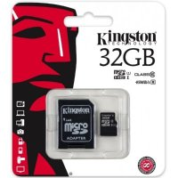 Карта памяти Kingston 32GB microSDHC Class 10 UHS-I SDC10G2/32GB